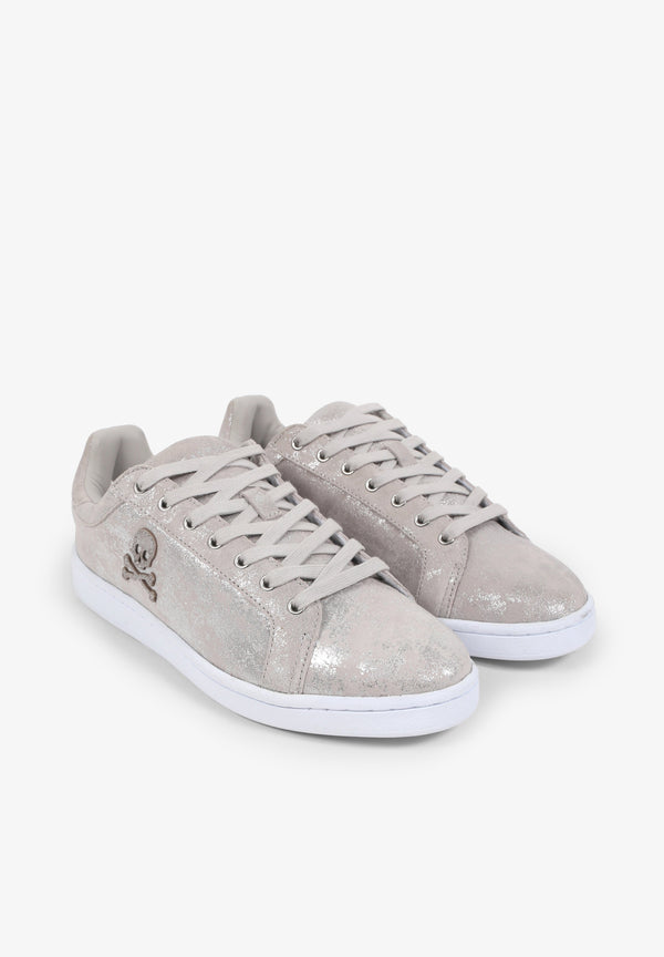 METALLIC LOW SNEAKERS