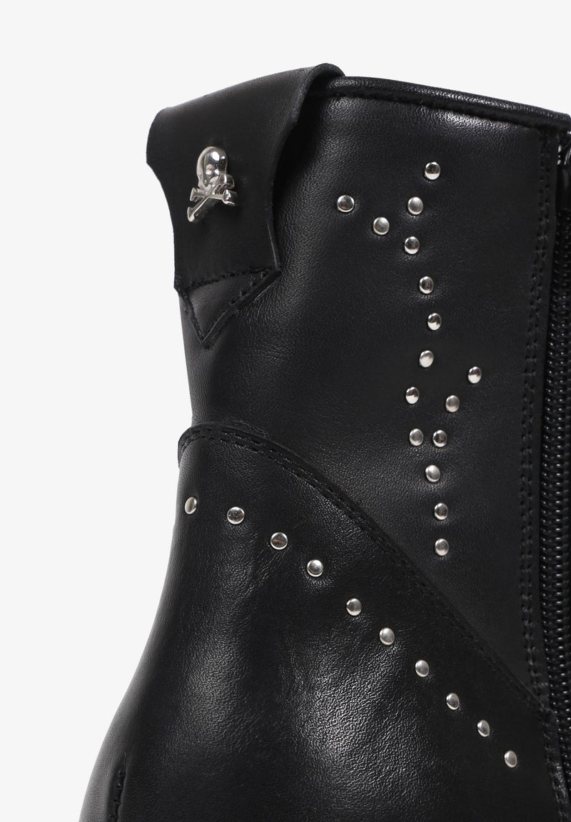 ANKLE BOOTS WITH STUDS