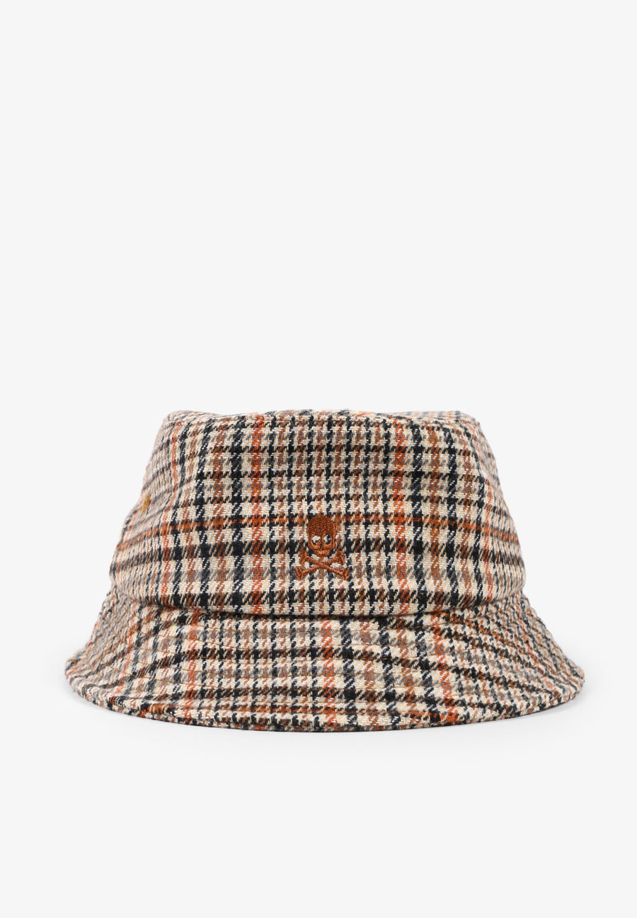 CHECKED BUCKET HAT