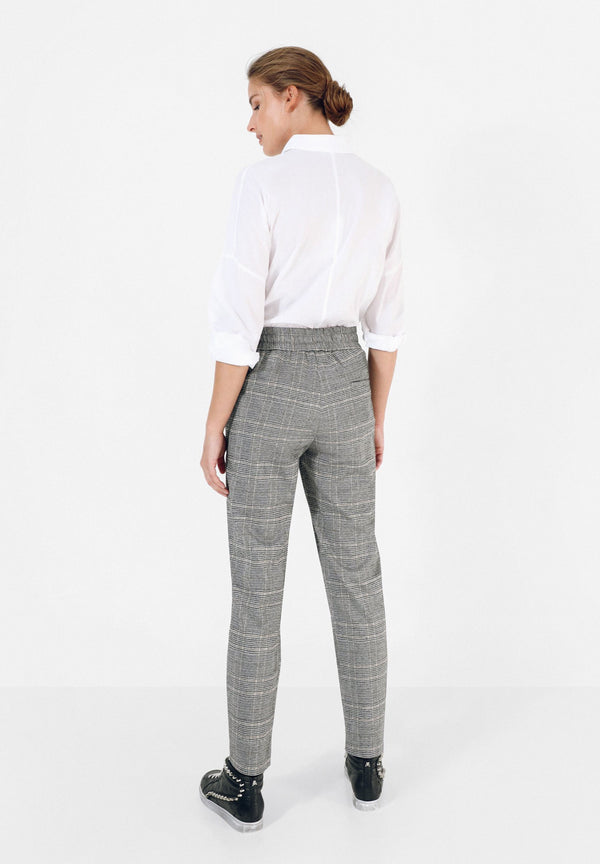 LUREX CHECK TROUSERS