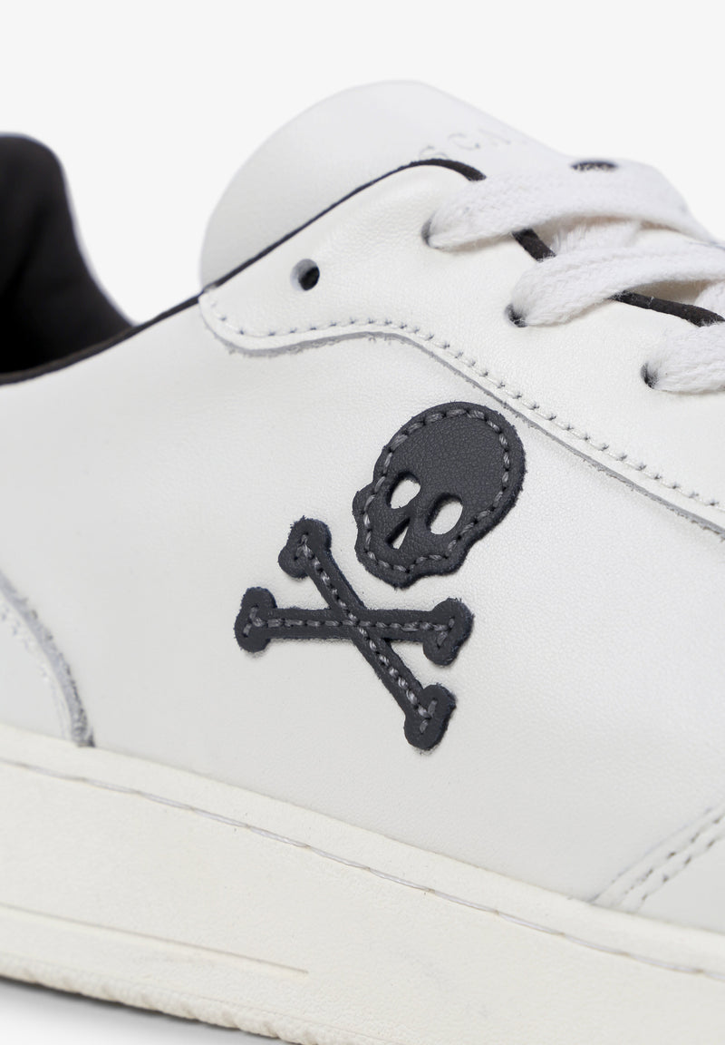 LEATHER SNEAKERS WITH CONTRAST DETAIL