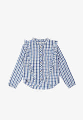 RUFFLED CHECK SHIRT