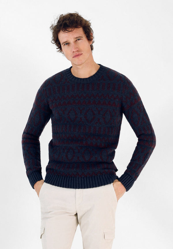 WOOL SWEATER WITH MOTIFS