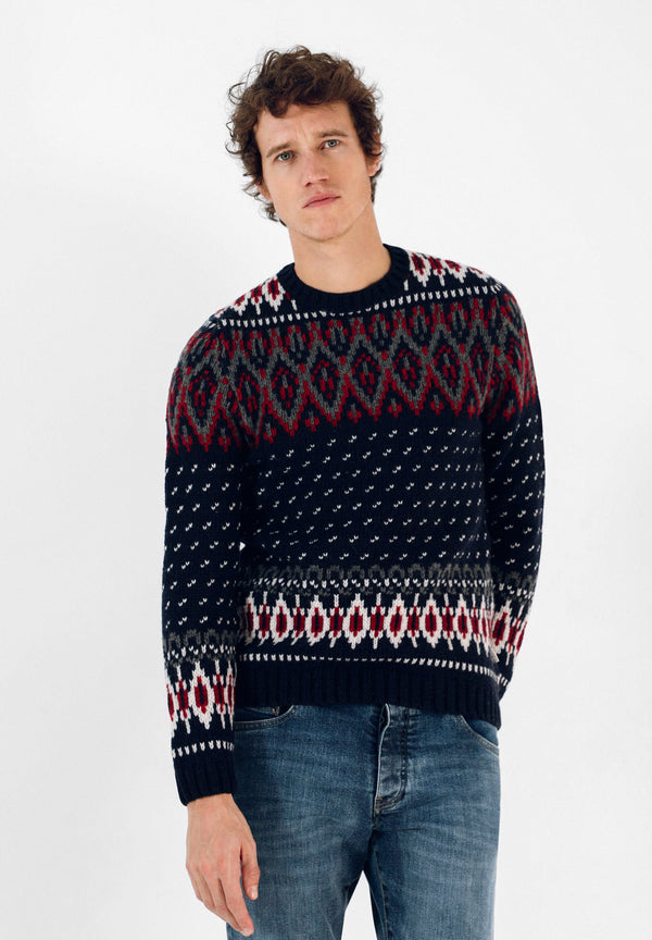 JACQUARD SWEATER WITH MOTIFS