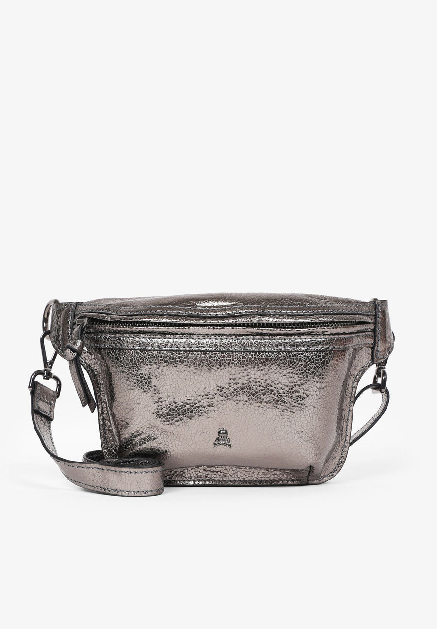 METALIZED BELT BAG