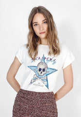 SKULL AND STAR T-SHIRT