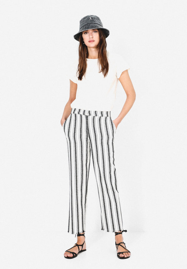 STRIPED LIGHTWEIGHT TROUSERS