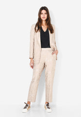 LOOSE FITTING JACQUARD TROUSERS