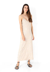 LONG DRESS WITH JACQUARD PRINT