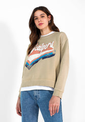 SWEATSHIRT WITH MULTICOLOUR PRINT