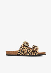 LEOPARD SANDALS WITH BUCKLES