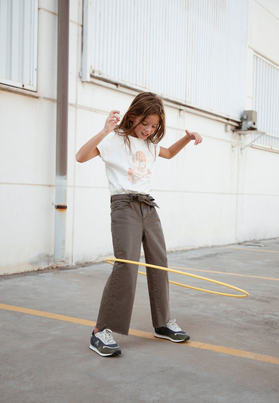 CULOTTE TROUSERS WITH BOW