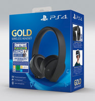 Sony Gold Wireless Gaming Headset for PS4 + Fortnite Voucher 2019 - Twenty Eleven Store