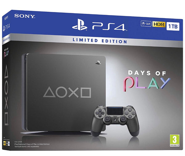 1TB DAYS OF PLAY LIMITED EDITION -GREY (PS4) (PS4) - Twenty Eleven Store