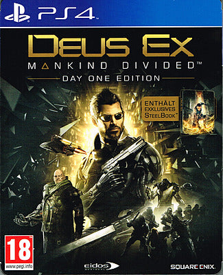 PS4 - Deus Ex: Mankind Divided Steelbook Edition (AT) uncut