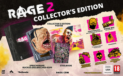 PS4 - Rage 2 Collectors Edition + 13 Boni (AT-PEGI)