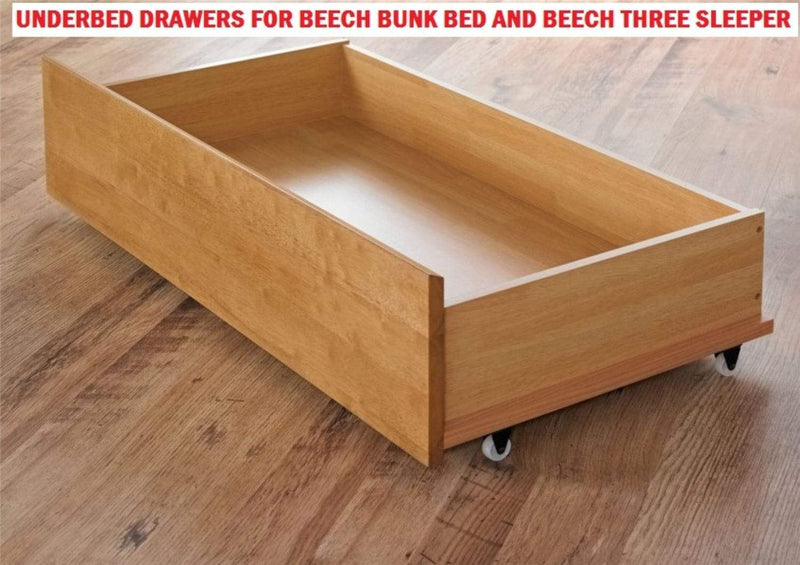 Artisan Bed Company Bunk Storage Drawers 2 X Storage Drawers For Louis & Charlotte Bunks - Beech