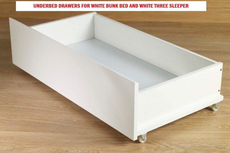 Artisan Bed Company Bunk Storage Drawers 2 X Storage Drawers For Louis & Charlotte Bunks - White