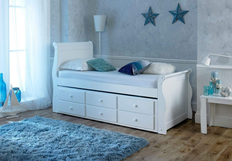 Artisan Bed Company Cabin Bed Captain Bed - White