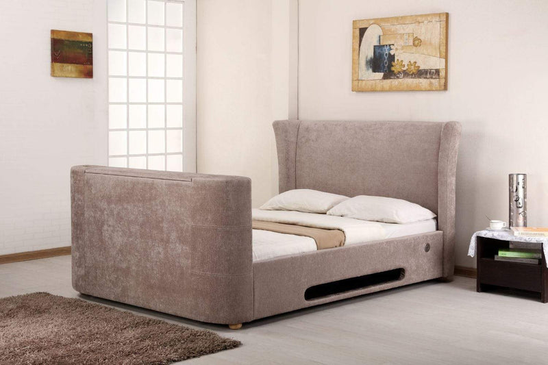Artisan Bed Company TV Bed Bluetooth Tv Bed - Mink Fabric