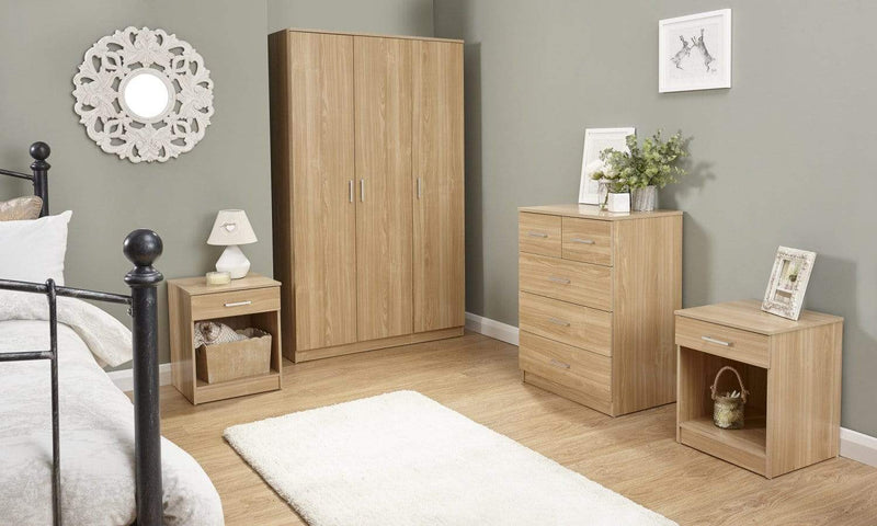 GFW Bedroom Set Panama 4Pce Set Oak Bed Kings