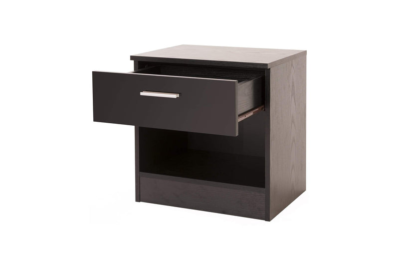 GFW Bedside Table Ottawa Bedside Black Bed Kings