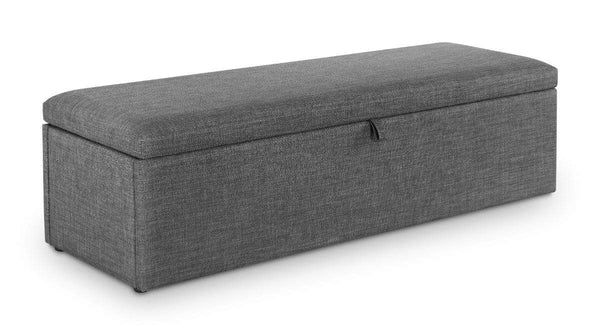 Julian Bowen Blanket Box Sorrento Blanket Box Slate Linen Bed Kings