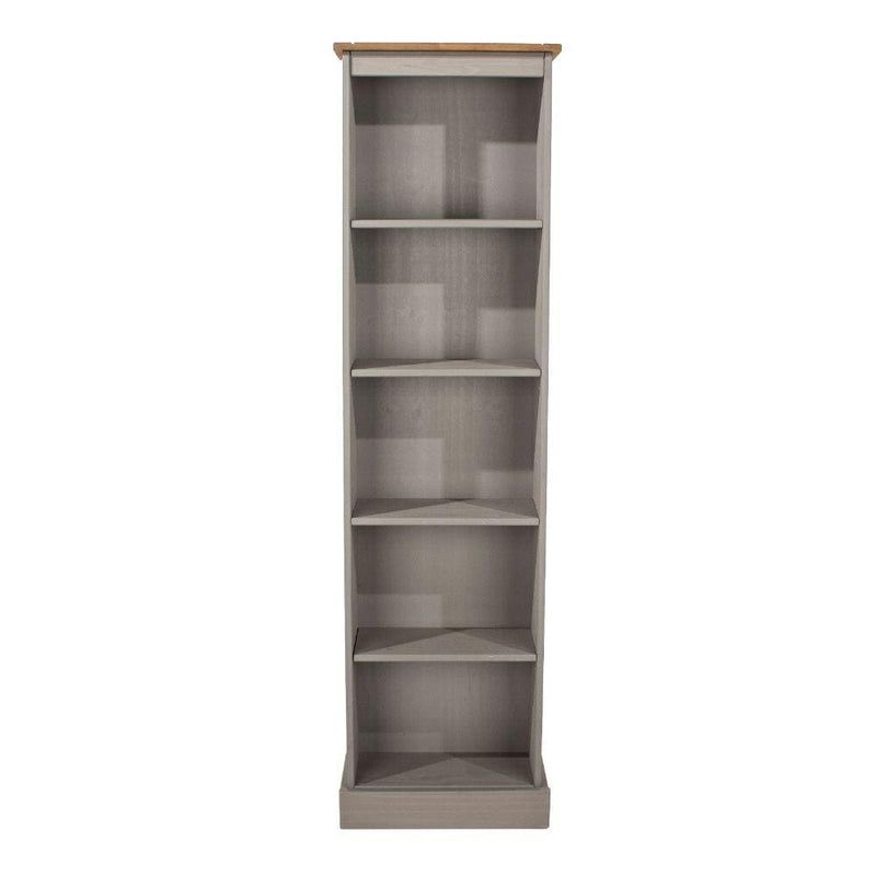 Antique Wax Core Products Tall Narrow Bookcase