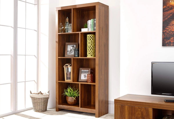 GFW Bookcase Hampton Acacia Tall Shelf Unit Bed Kings