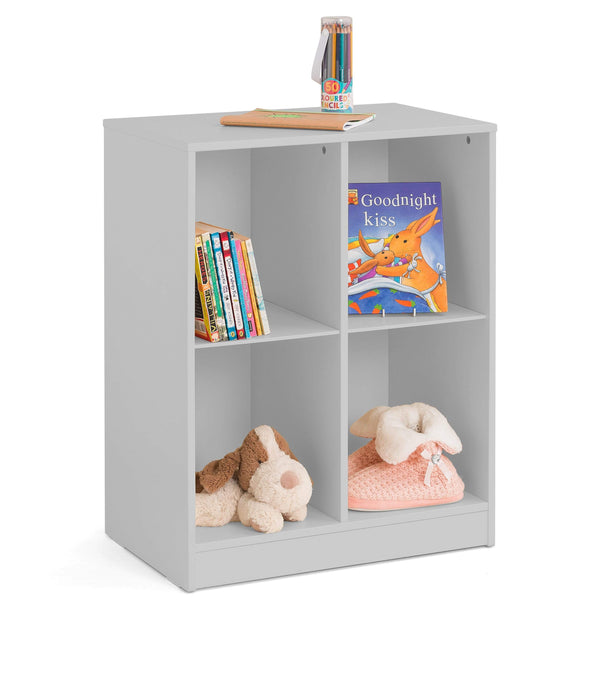 Julian Bowen BOOKCASE Pluto Cube Bookcase Dove Grey Bed Kings