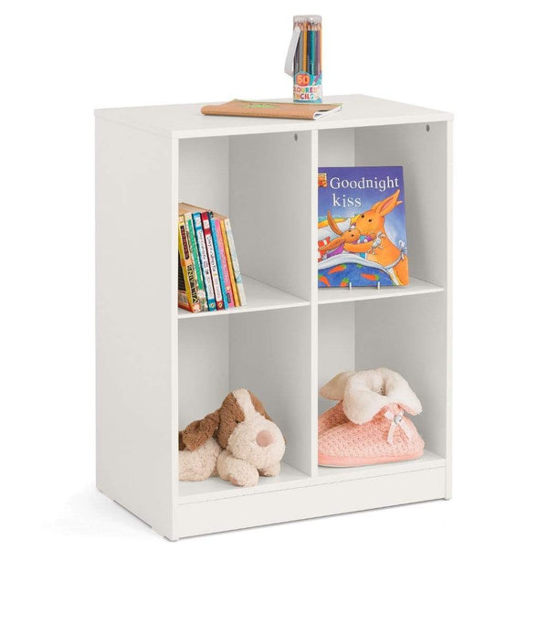 Julian Bowen BOOKCASE Pluto Cube Bookcase Stone White Bed Kings