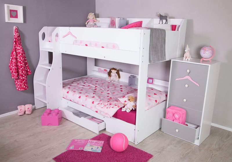 Flick Bunk Bed - White - 2 Sleeper
