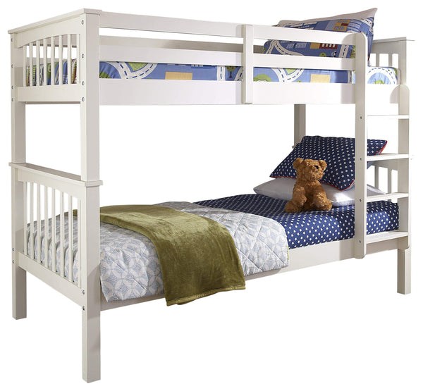 GFW Bunk Bed Single 90cm 3ft New Novaro Bunk Bed White - 2 beds in 1 Bed Kings