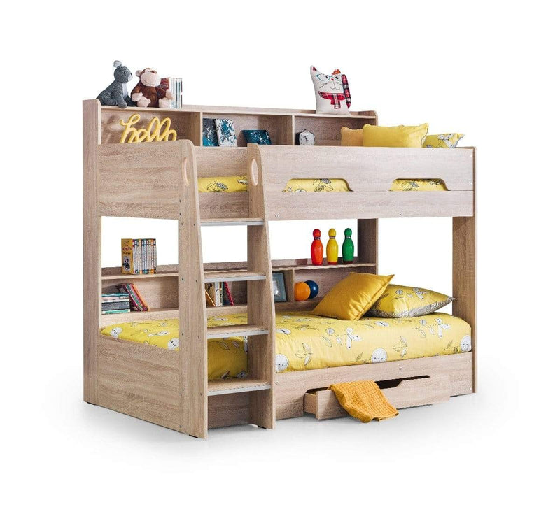 Julian Bowen BUNK BED Orion Bunk Bed - Sonoma Oak Bed Kings