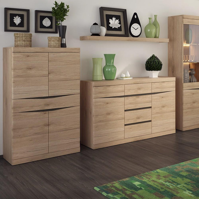 Kensington 4 + 4 Wide Chest of Drawers Oak