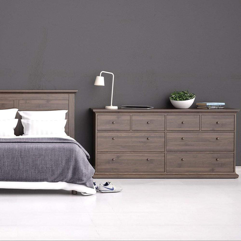 Paris Chest of 8 Drawers in Walnut