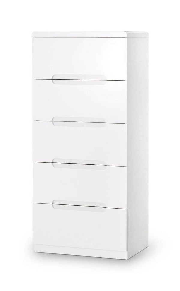 Julian Bowen Chest Of Drawers Manhattan 5 Drawer Narrow Chest Bed Kings