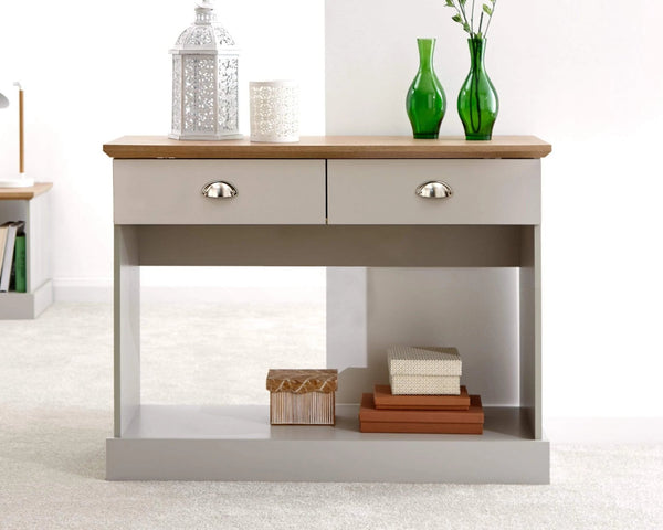 GFW Console Table Kendal Console Table Grey Bed Kings