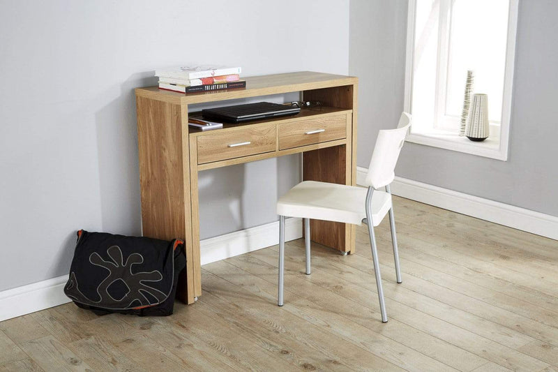 Regis Extending Console Desk  Oak