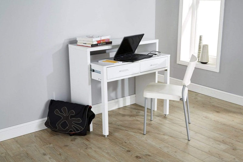 Regis Extending Console Desk  White