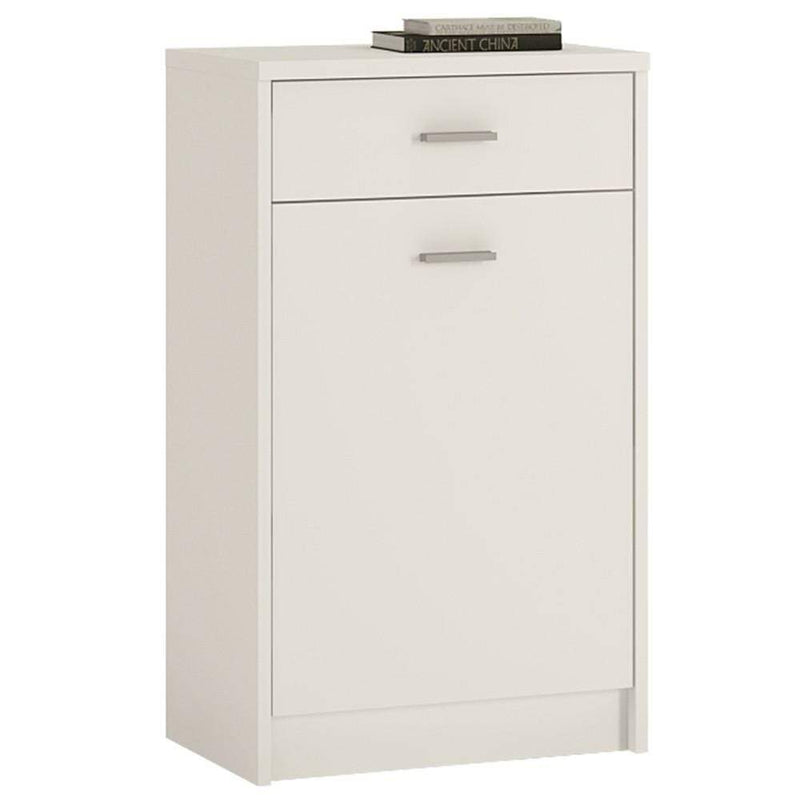4 You 1 Drawer 1 Door Cupboard Pearl White