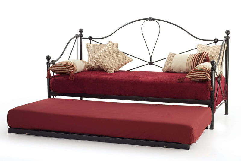 Serene Day Bed Lyon  Metal Day Bed - Black Bed Kings
