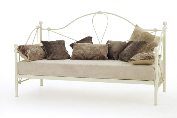 Serene Day Bed Lyon  Metal Day Bed - Ivory Bed Kings