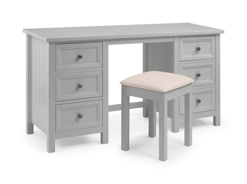 Julian Bowen DRESING TABLE Maine Dressing Table- Dove Grey Bed Kings