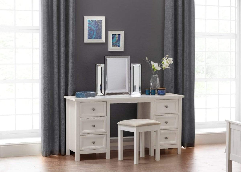 Julian Bowen DRESING TABLE Maine Dressing Table - Surf White Bed Kings