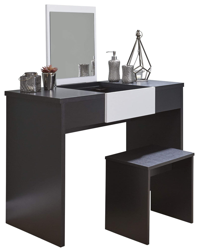 GFW Dressing Table Set Marlow Dressing Table Set Black + White Top Bed Kings