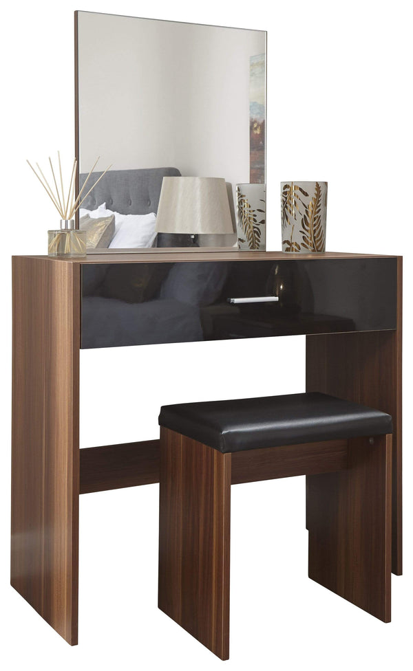 GFW Dressing Table Set Ottawa Dresser & Stool Walnut Bed Kings