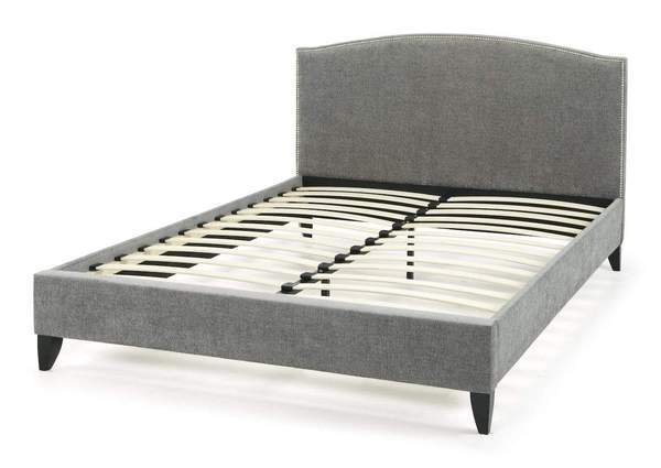 Charlotte  Fabric Upholstered Bed - Charcoal