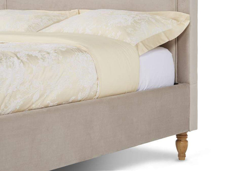 Serene Fabric Bed Joyce  Upholstered Fabric Bed - Stone Bed Kings