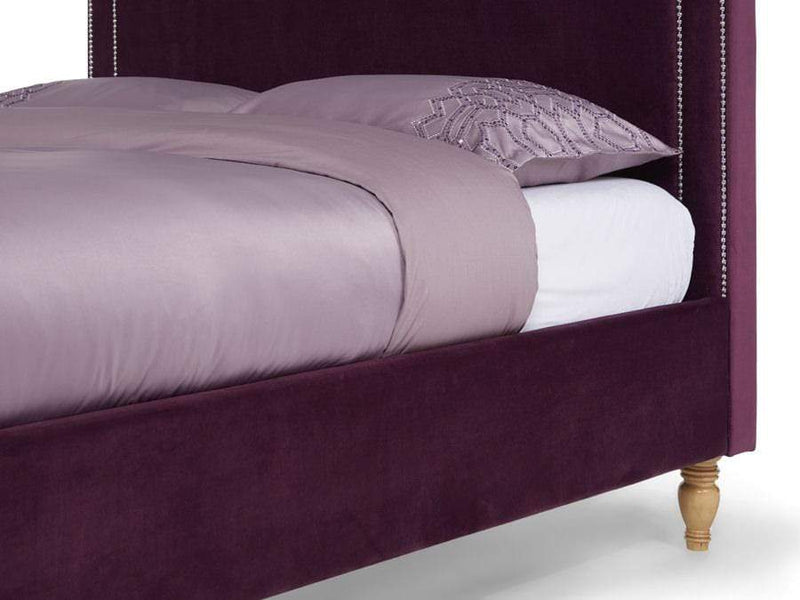 Serene Fabric Bed Louise  Upholstered Fabric Bed - Mulberry Bed Kings